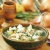 Суп з морепродуктами і томатами